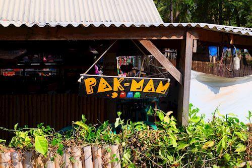 Pak-Man restaurant Gili Meno