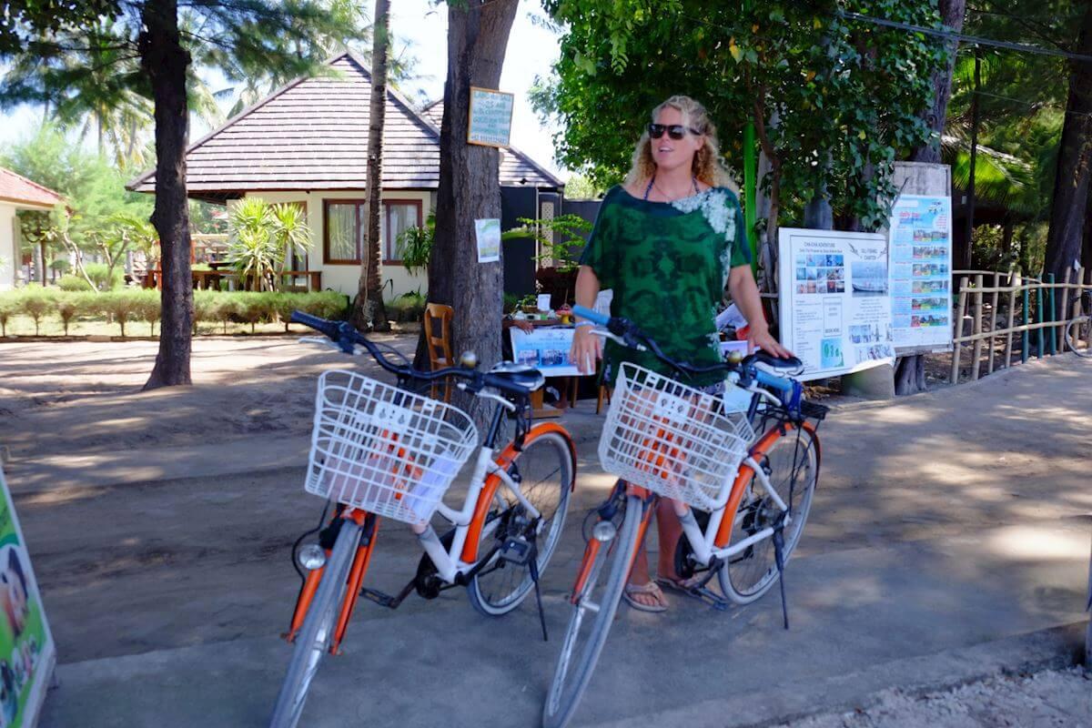 Rent a bike, most convenient way to get around Gili Islands