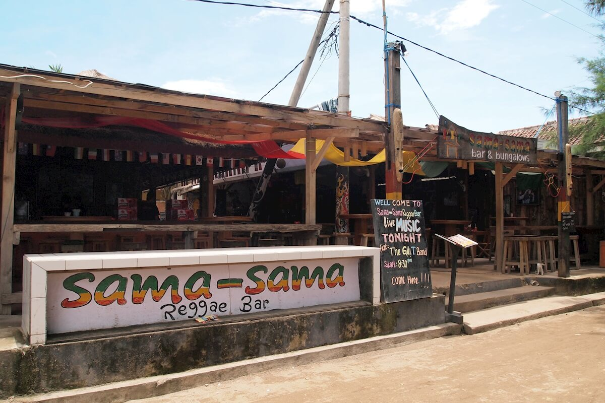 Sama Sama Reggae bar - one of the best places on Gili Trawangan