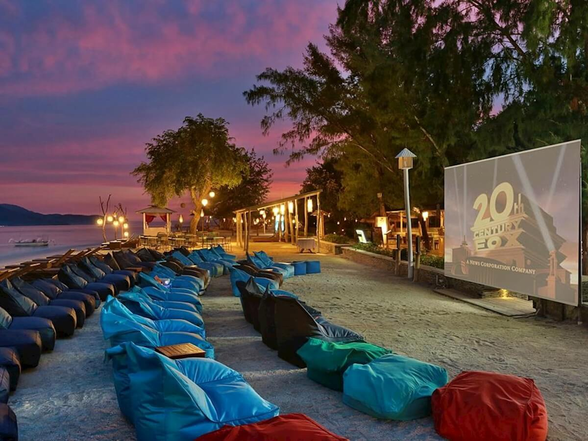 Gili Trawangan outdoor cinema
